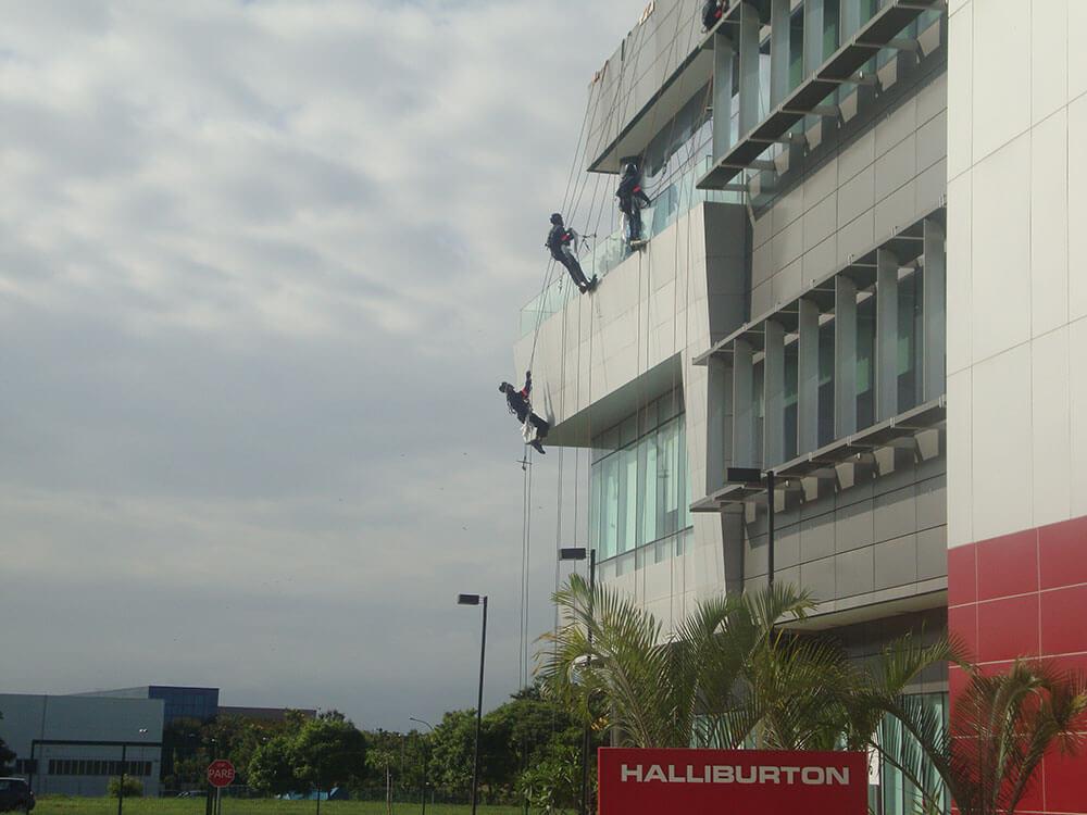 limpeza de fachadas halliburton