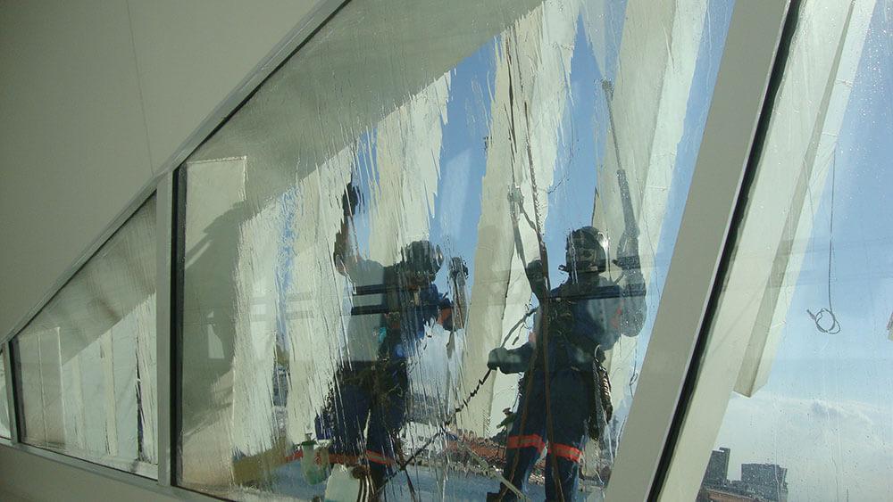 lavagem de vidros