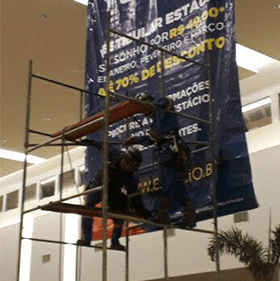 Instalacao Banners Paineis