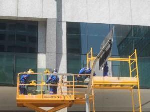 fachada de vidro em edifícios